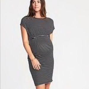 Maternity striped body con dress